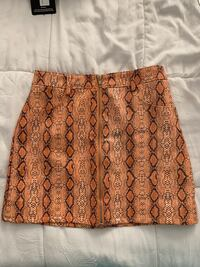Orang Snake Print leather skirt Oakland, 94605