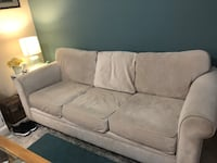 white fabric 3-seat sofa 2254 mi