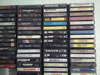 assorted DVD movie cases collection