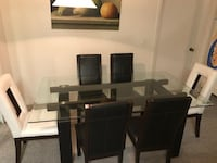 rectangular glass top table with six chairs dining set Tampa, 33625