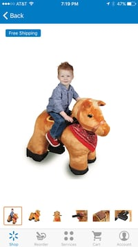 Brand new 6v plush pony ride on LIKE IN THE Mall New Haven, 06513