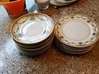white and multicolored ceramic saucer lot Cypress, 77429