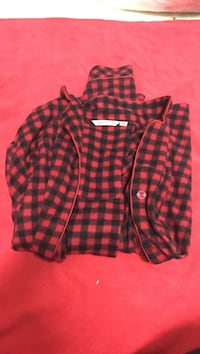 red and black gingham coat Colwood, V9C 3B8