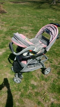 baby's pink and gray stroller St. Peters, 63376