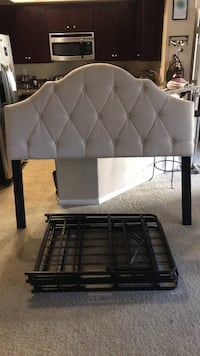 Queen Sized Headboard and Metal Frame San Diego, 92120