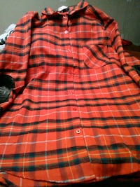 red and black plaid button-up shirt 43 km