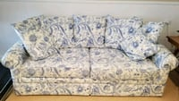 white and blue floral fabric 2-seat sofa Monrovia, 21770