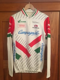 Vintage 80s CAMPAGNOLO Cycling Jersey Long Sleeve MADE IN ITALY Size 5