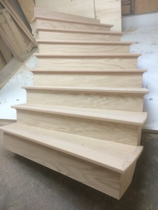 white wooden stair