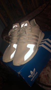 pair of white adidas low-top sneakers Central Falls, 02863