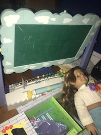hopscotch hill (american girl) doll, closet, books, and chalkboard  Elmwood Park, 07407