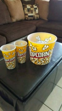 Reusable Plastic Popcorn buckets All for $5 El Paso, 79915