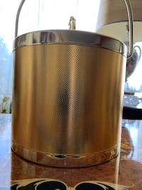 Gold Metal Ice Bucket with tongs (Brand New) Edmonton, T6K 3W9
