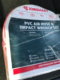 Brand new Impact air wrench.  With 50 ft pvc hose