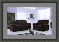Chocolate microfiber sofa and loveseat Woodbridge, 22191
