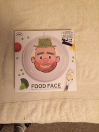 """Mr. Food Face 8.5"""" Ceramic Plate - Make Faces at the Table New in Box Fairfax, 22030"""