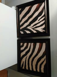 black and white zebra print wooden cabinet London