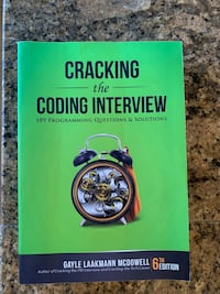 Cracking the Coding Interview Paperback. Like New Condition ! 233 mi