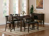 6pc Counter Height Table Set  Ontario