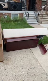 Matress and solid wood table Curb side pick up