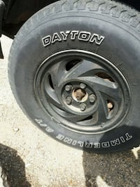 4 rims with dayton AT treads Edmonton, T5L 0Z7