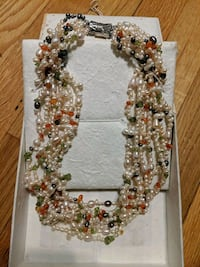 Pearl and Crystal multi strand necklace. Alexandria, 22305