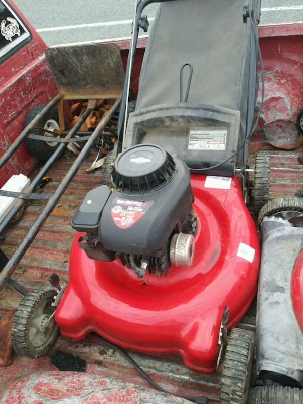 Bagged Lawn mower serviced 1