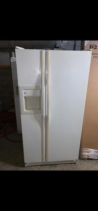 White GE fridge, stove, microwave  Woodbridge Township