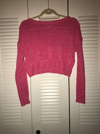 PINK NETTED CROP TOP SWEATER  Silver Spring, 20902