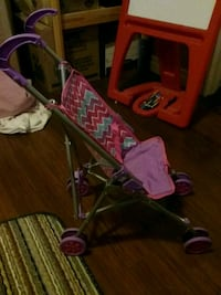 baby's pink and green doll  stroller London, N5V 5E8