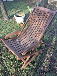 Wooden outdoor lounge chair