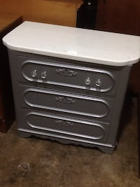 White and silver  wooden 3-drawer chest Rockville, 20850