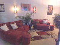 Red sectional sofa set Duluth, 30096