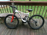 white and black hardtail mountain bike Spartanburg County