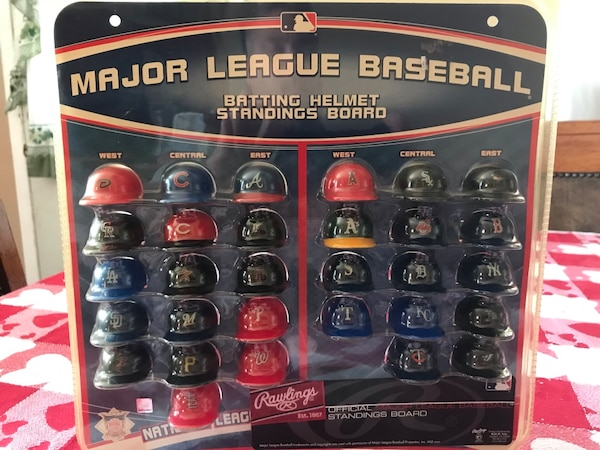 Mlb Mini Batting Helmet Standings Board New Never Opened