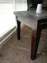 brown wooden square top side table