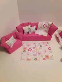 Barbie doll couch and chair One of a kind