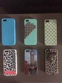 Six assorted iPhone cases Sudbury, P3A 3A1