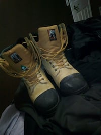 pair of brown leather work boots Edmonton, T5T 5T1