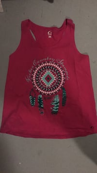 red and black tank top Milford, 66514