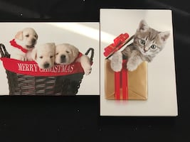 Puppy or Kitten Notecards and Envelopes
