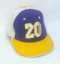 "Size 7 1/8"" LA Lakers Gary Payton #20 Fitted Hat Los Angeles, 90032"