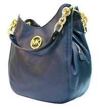 New MK Michael Kors Navy Blue Fulton Chain medium shoulder bag purse Los Angeles, 91306