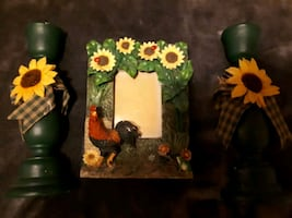 Frame and candle holders