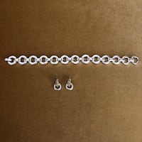 Silver & Gold Bracelet and Earring Set - BRAND NEW - $12 OBO Greenwood Village, 80111