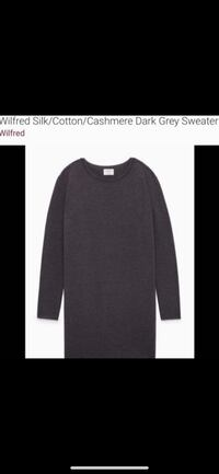 ARITZIA|WILFRED Grey Cotton Cashmere Sweater ~ M/L  Richmond, V7E 6S2