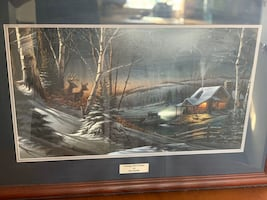 "Terry Redlin ""Evening with Friends"" limited edition signed print"