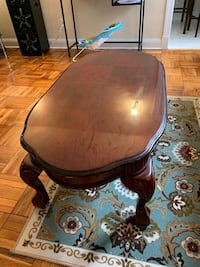 brown wooden round table with two chairs Fairfax, 22032