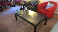 Black crate and barrel parsons coffee table (retails $400). Washington, 20009