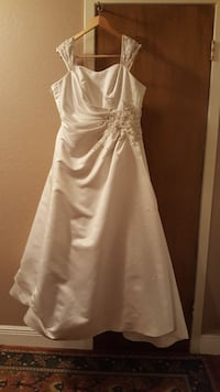 Wedding Dress French Bustle Sz 14, w/Veil  Corpus Christi, 78412
